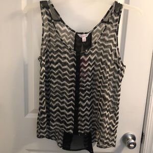 Candie's button up tank blouse